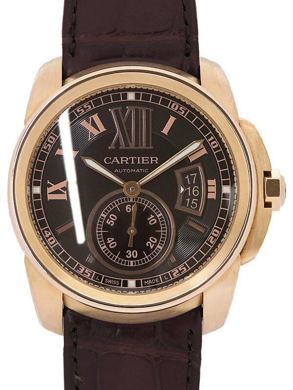 【Cartier】【裏スケ】【内部点検・仕上済】カルティエ『カリブル ドゥ カルティエ』W7100007 メンズ 自動巻き 6ヶ月保証【中古】