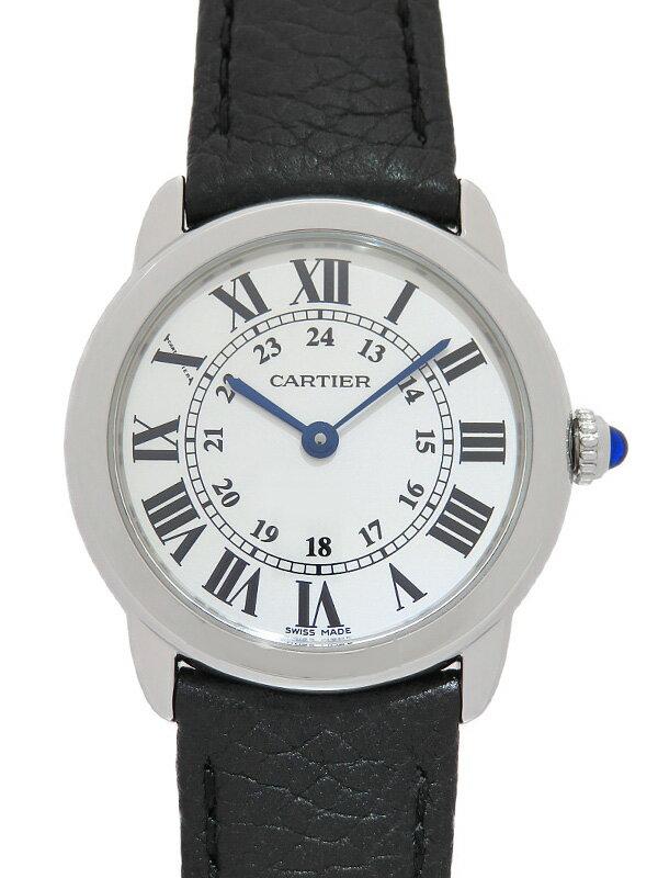 【Cartier】【電池交換・仕上済】【'20年購入】カルティエ『ロンドソロSM』WSRN0019 レディース クォーツ 3ヶ月保証【中古】