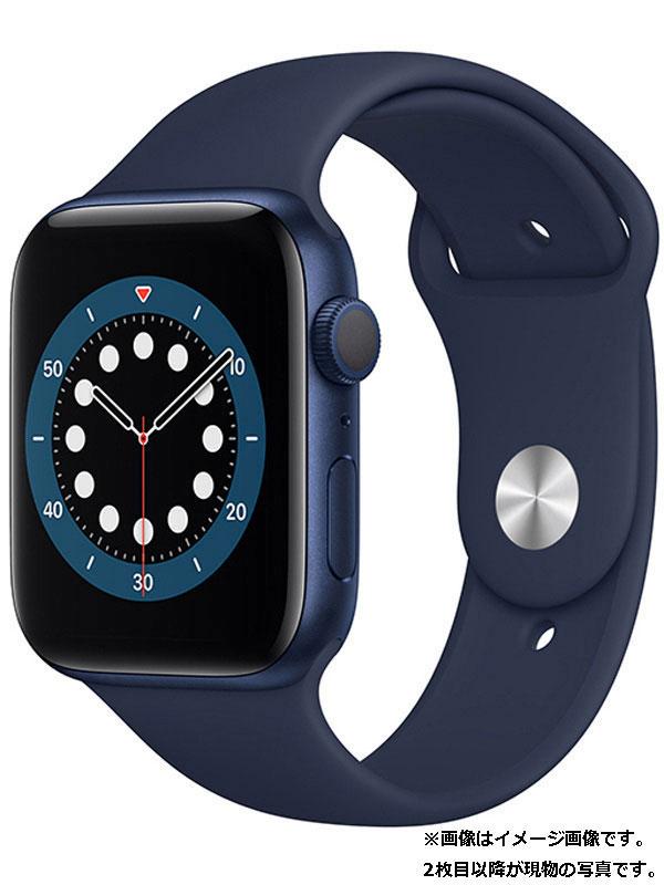 【Apple】【アップルウォッチ シリーズ6】アップル『Apple Watch Series 6 GPSモデル 44mm』M00J3J/A メンズ スマートウォッチ 1週間保証【中古】