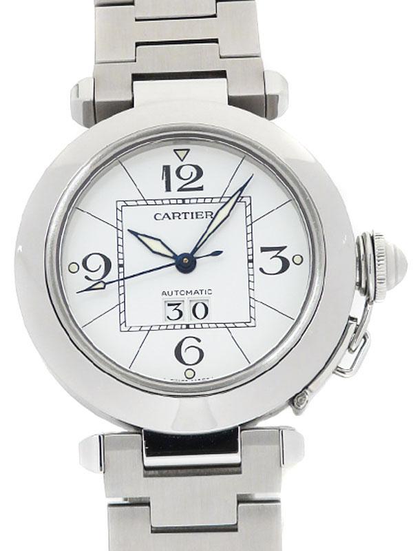 【Cartier】カルティエ『パシャC ビッグデイト』W31044M7 メンズ 自動巻き 3ヶ月保証【中古】