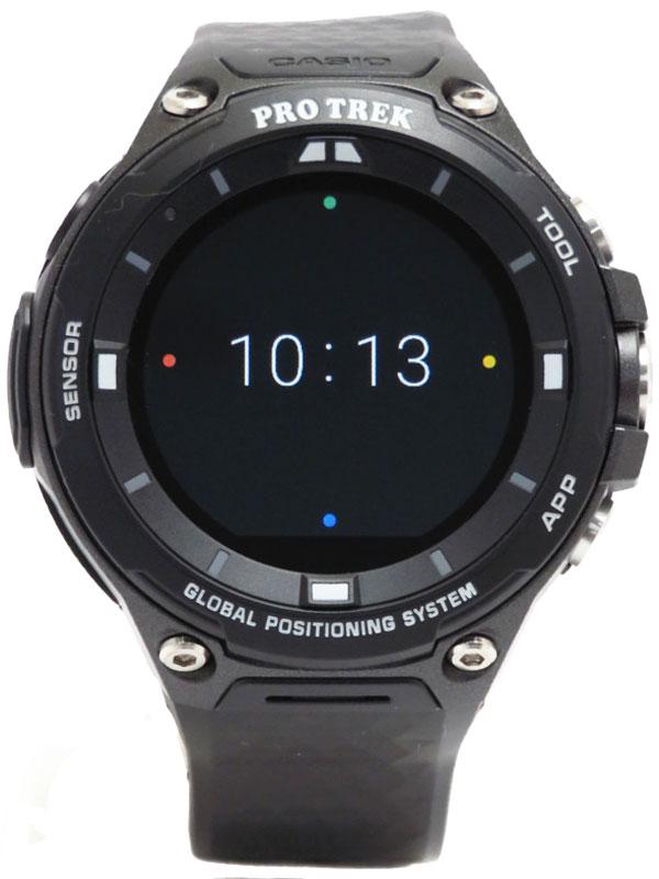 【CASIO】カシオ『GPSスマートアウトドアウォッチ プロトレック』WSD-F20-BK メンズ ウェアラブル端末 1週間保証【中古】