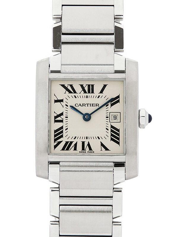 【Cartier】【'21年メーカーコンプリートサービス・仕上済】カルティエ『タンクフランセーズMM』W51011Q3 ボーイズ クォーツ 3ヶ月保証【中古】