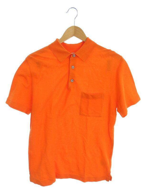 【HERMES】【イタリア製】【トップス】エルメス『半袖ポロシャツ sizeS』メンズ 1週間保証【中古】