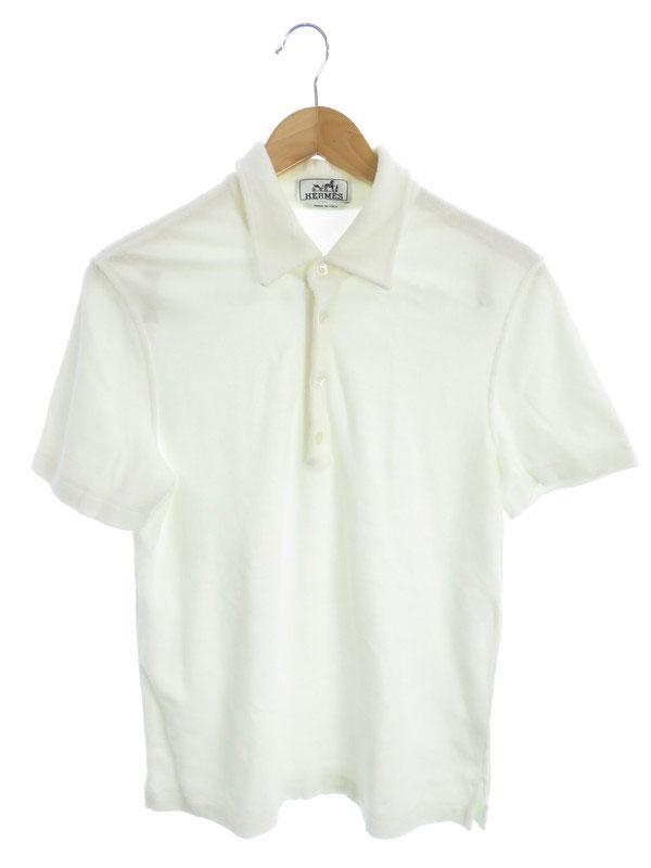 【HERMES】【イタリア製】【パイル地】エルメス『半袖ポロシャツ sizeS』メンズ 1週間保証【中古】