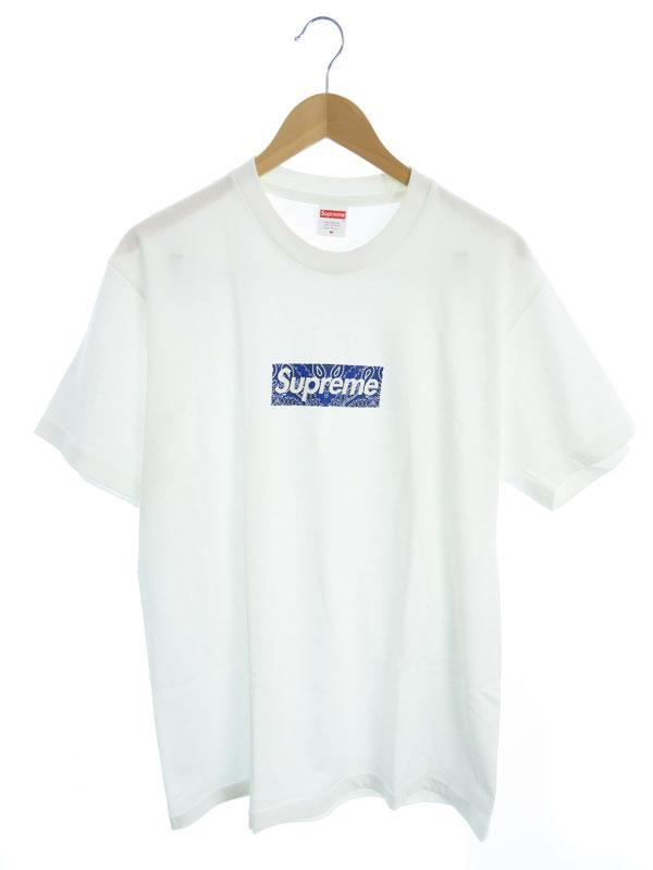 【Supreme】【Bandana Box Logo Tee】【アメリカ製】シュプリーム『半袖Tシャツ sizeM』19FW メンズ カットソー 1週間保証【中古】
