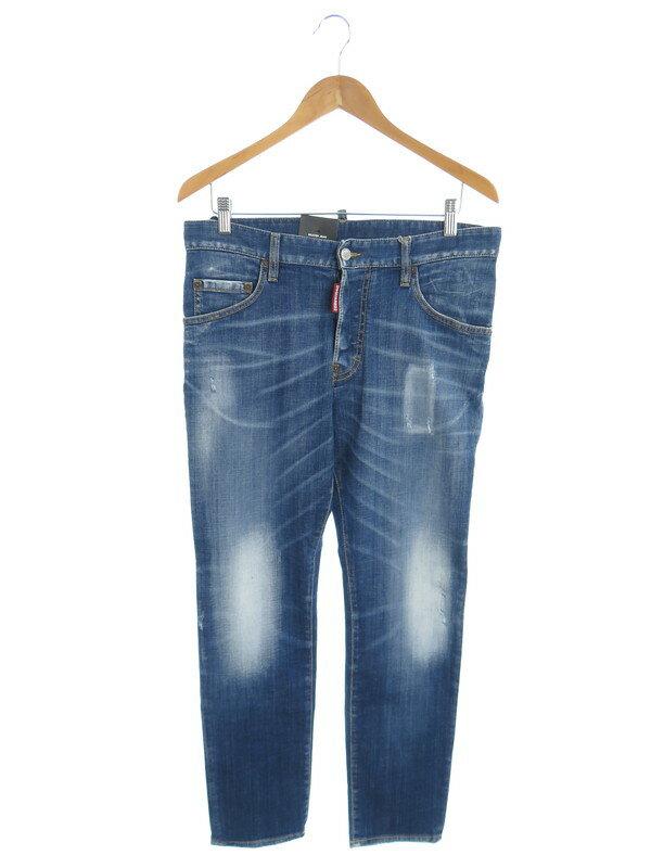 【DSQUARED2】【Skater Jean】【ルーマニア製】ディースクエアード『ジーンズ size48』S74LB0715 S30342 21AW メンズ デニムパンツ 1週間保証【中古】