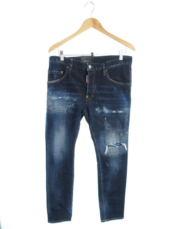 【DSQUARED2】【Skater Jean】【ルーマニア製】【ジーパン】ディースクエアード『ジーンズ size48』S74LB0835 S30664 21SS メンズ 1週間保証【中古】