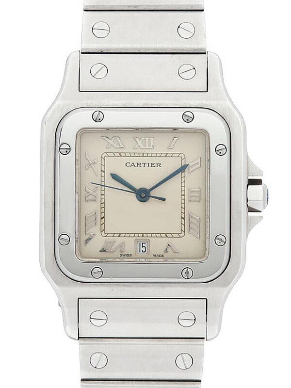【Cartier】【OH・電池交換済】カルティエ『サントスガルベ LM』W20025D6 メンズ クォーツ 3ヶ月保証【中古】