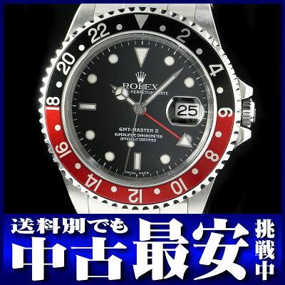 【ROLEX】ロレックス『GMTマスター2 赤×黒ベゼル』16710 Y番'02年頃製 メンズ 自動巻き 12ヶ月...