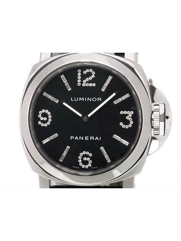 【PANERAI】【仕上済】パネライ『ルミノールベース ダイヤモンドコレクション』PAM00030 D番'01年製 メンズ 手巻き 6ヶ月保証【中古】