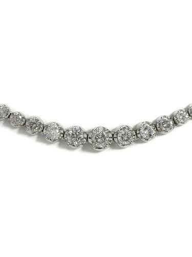 セレクトジュエリー『K18WG ダイヤモンド4.00ct テニスネックレス』1週間保証b01j/h08A