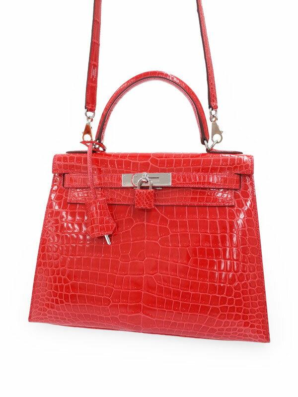【HERMES】【シルバー金具】エルメス『ケリー28 外縫い』O刻印 2011年製 レディース 2WAYバッグ 1週間保証【中古】