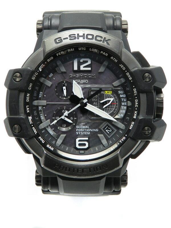 【CASIO】【G-SHOCK】カシオ『Gショック スカイコックピット』GPW-1000-1BJF メンズ ソーラーGPS 1週間保証【中古】b02w/h00AB:高山質店
