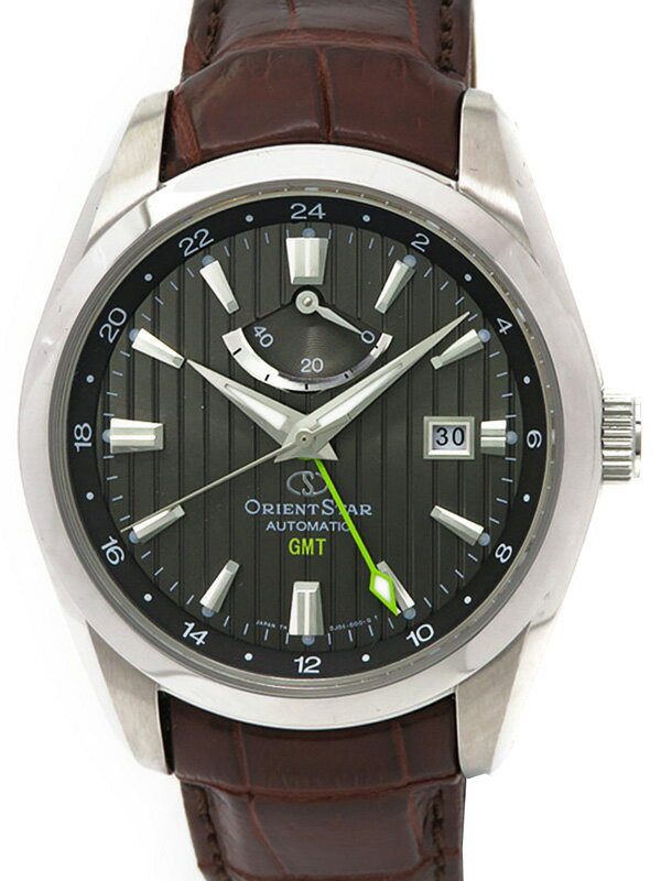 【ORIENT】【裏スケ】オリエント『オリエントスター GMT』WZ0081DJ メンズ 自動巻き 1ヶ月保証【中古】b01w/h05A:高山質店