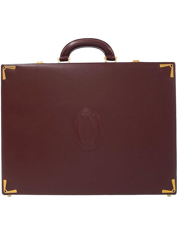 【Cartier】カルティエ『マストライン アタッシュケース』メンズ ビジネスバッグ 1週間保証【中古】