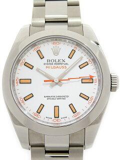 【ROLEX】ロレックス『ミルガウス』116400 V番'09年頃製 メンズ 自動巻き 12ヶ月保証【中古】b05w/h12A