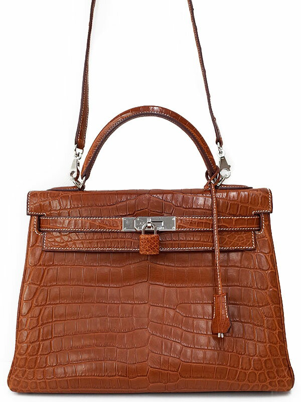 【HERMES】【シルバー金具】エルメス『ケリー32 内縫い』J刻印 2006年製 レディース 2WAYバッグ 1週間保証【中古】