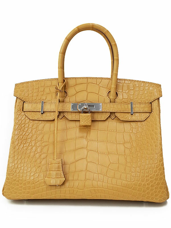 【HERMES】【シルバー金具】エルメス『バーキン30』T刻印 2015年製 レディース ハンドバッグ 1週間保証【中古】