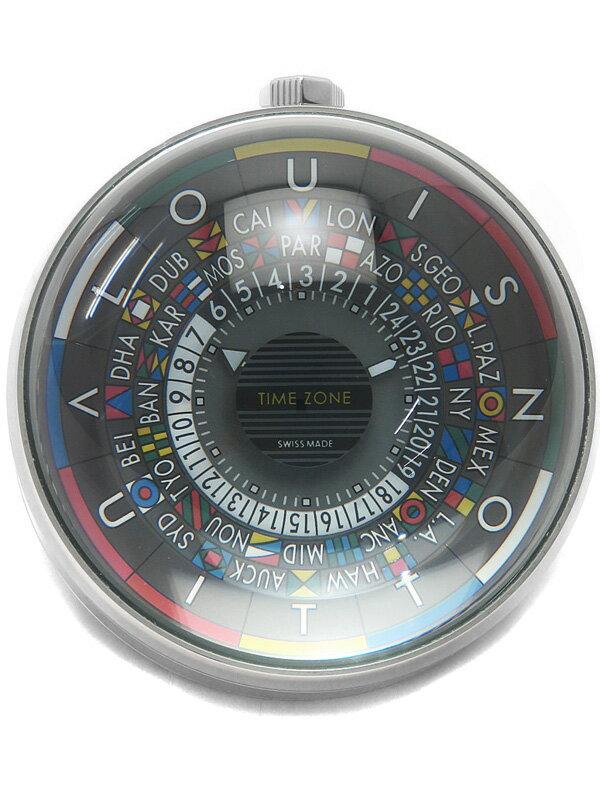 【LOUIS VUITTON】【'16年購入】ルイヴィトン『エスカル テーブルクロック』Q5Q000 クォーツ 1ヶ月保証【中古】