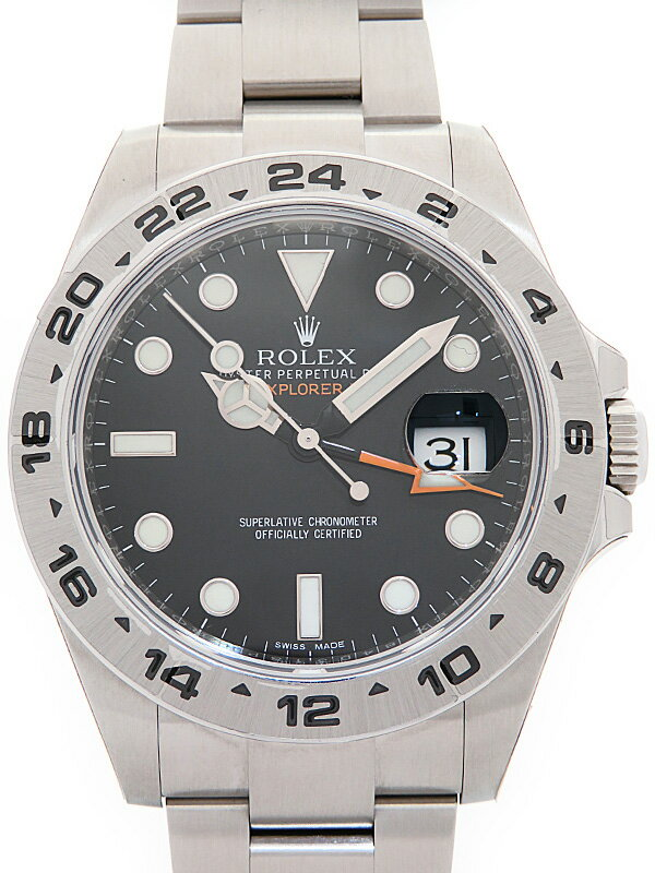 【ROLEX】【'17年購入】【美品】ロレックス『エクスプローラー2』216570 ランダム番 メンズ 自動巻き 12ヶ月保証【中古】