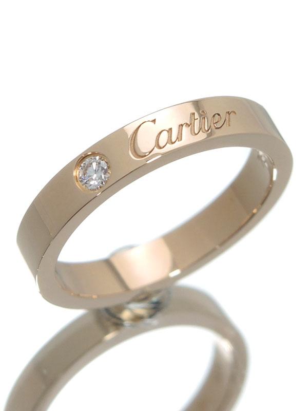 【Cartier】【仕上済】カルティエ『エングレーブド リング 1Pダイヤ』8号 1週間保証【中古】