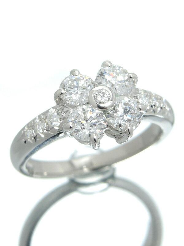 【TASAKI】【仕上済】タサキ『PT900リング ダイヤモンド1.14ct フラワーモチーフ』11号 1週間保証【中古】