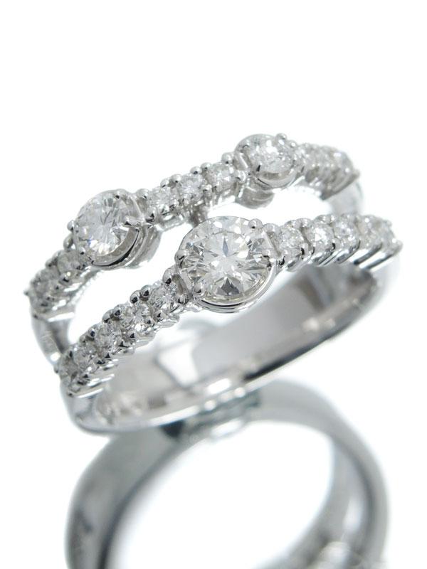 【TASAKI】【仕上済】タサキ『K18WGリング ダイヤモンド0.53ct 0.39ct』12号 1週間保証【中古】