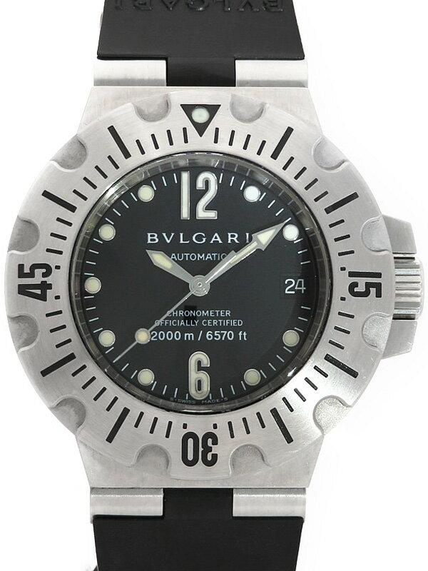 【BVLGARI】【内部点検済】ブルガリ『ディアゴノ プロフェッショナル スクーバ』SD42S メンズ 自動巻き 3ヶ月保証【中古】