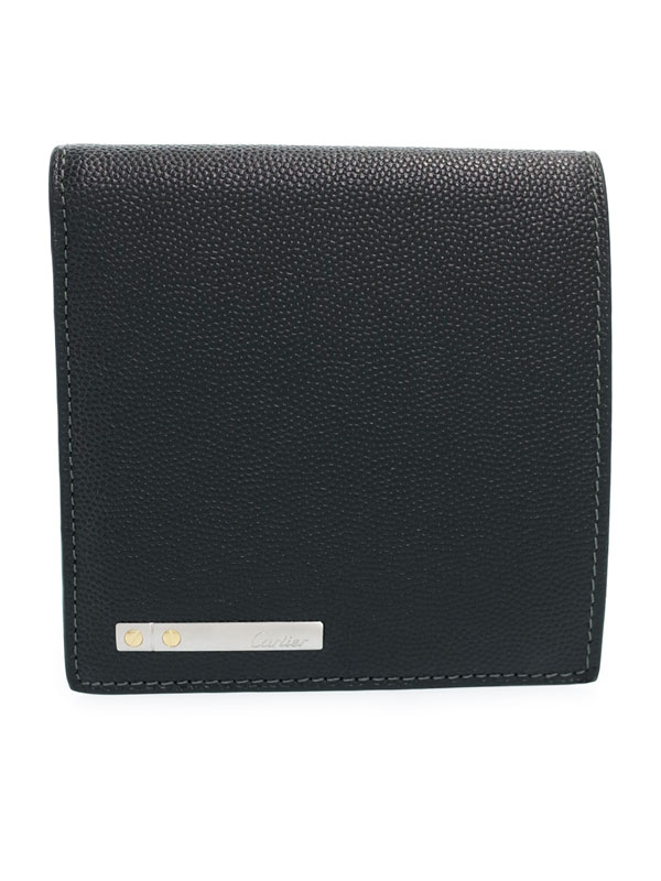 【CARTIER】カルティエ『サントス ドゥ カルティエ 二つ折り短財布』L3000772 メンズ 1週間保証【中古】
