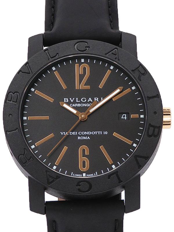 【BVLGARI】【ROMA】【裏スケ】ブルガリ『ブルガリブルガリ カーボンゴールド』BB40CL メンズ 自動巻き 3ヶ月保証【中古】
