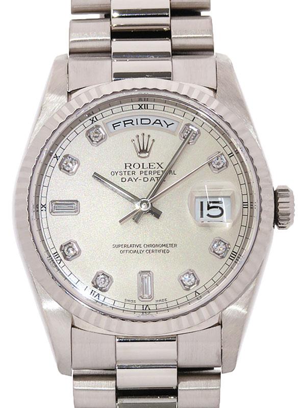 【ROLEX】【WG】【仕上済】ロレックス『デイデイト 10Pダイヤ』18239A A番'99年頃製 メンズ 自動巻き 12ヶ月保証【中古】