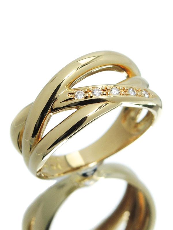 【TASAKI】【仕上済】タサキ『K18YGリング ダイヤモンド0.04ct』13号 1週間保証【中古】