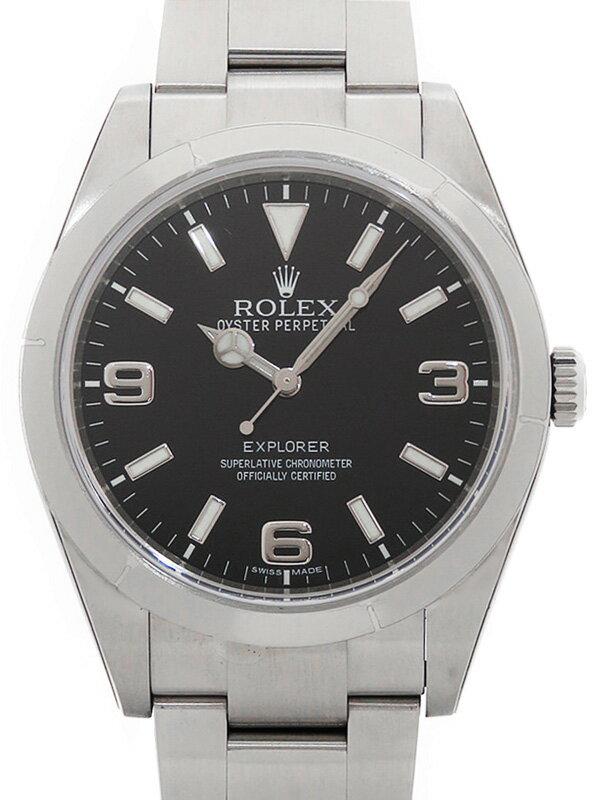 【ROLEX】【'11年購入】【美品】ロレックス『エクスプローラー1』214270 ランダム番 メンズ 自動巻き 12ヶ月保証【中古】