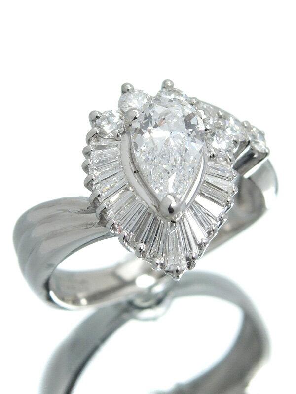 【ソーティング】セレクトジュエリー『PT900リング ダイヤモンド0.691ct/E/SI-1 0.55ct』11号 1週間保証【中古】
