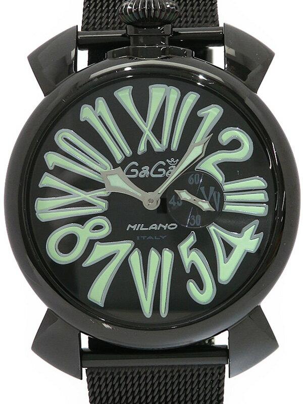 【GaGa MILANO】【電池交換済】ガガミラノ『マヌアーレスリム 46mm』5082.2 メンズ クォーツ 1週間保証【中古】