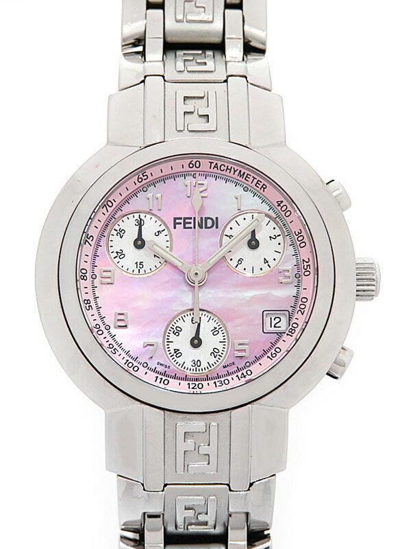 【FENDI】フェンディ『ズッカ クロノグラフ』4500L レディース クォーツ 1週間保証【中古】