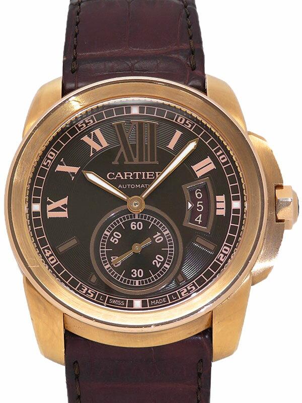 【Cartier】【裏スケ】カルティエ『カリブル ドゥ カルティエ』W7100007 メンズ 自動巻き 6ヶ月保証【中古】