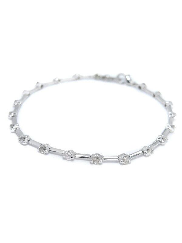 【仕上済】セレクトジュエリー『K18WGブレスレット ダイヤモンド1.50ct テニスブレス』1週間保証【中古】
