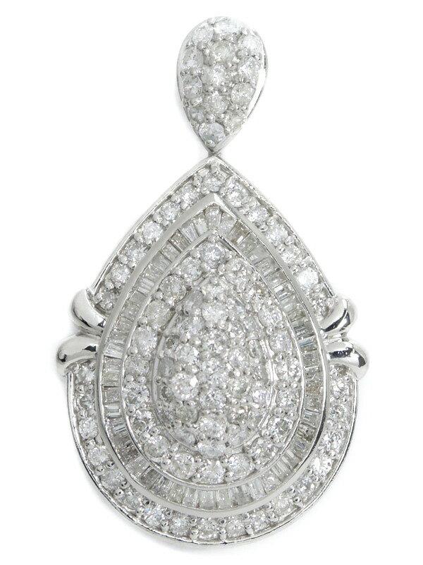 セレクトジュエリー『PT900ペンダントトップ ダイヤモンド5.00ct ドロップモチーフ』1週間保証【中古】