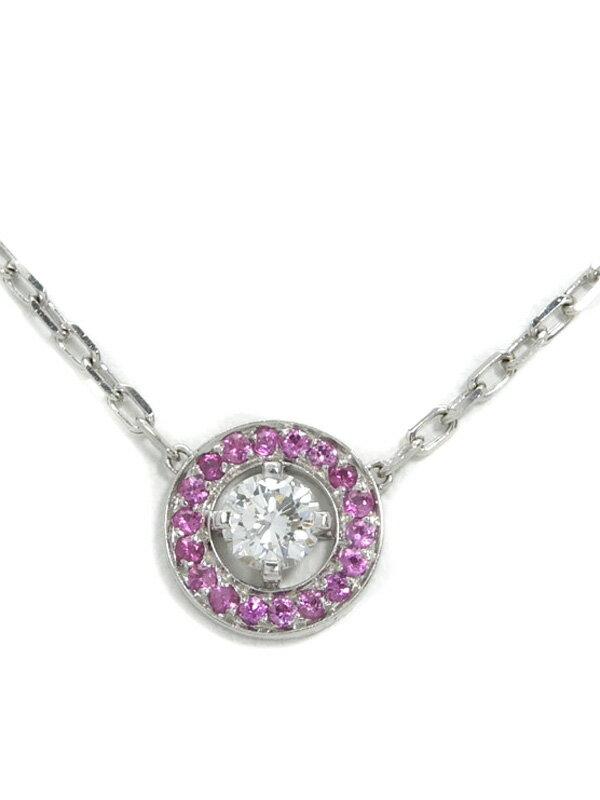 【BOUCHERON】ブシュロン『アバ ペンダント ネックレス ダイヤモンド サファイア』1週間保証【中古】