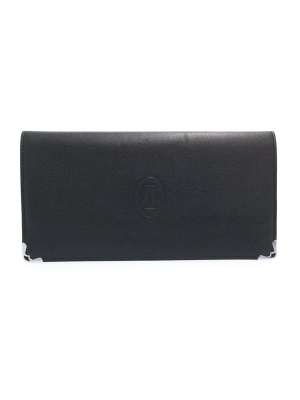 【Cartier】カルティエ『カボション インターナショナル ウォレット』L3001363 メンズ 二つ折り長財布 1週間保証【中古】