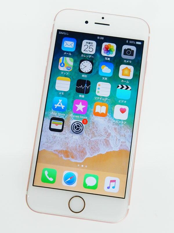 【Apple】アップル『iPhone 6s 64GB au』MKQR2J/A ローズゴールド iOS1.2.2 4.7型 白ロム ○判定 スマートフォン【中古】
