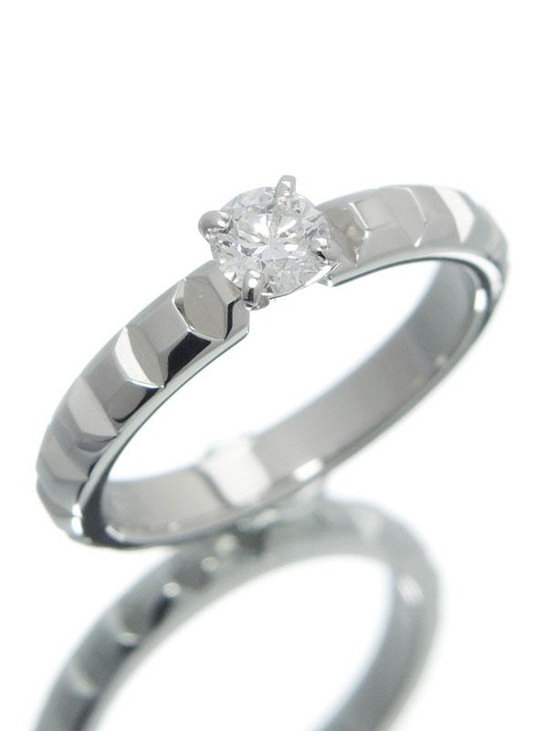 【BOUCHERON】【仕上済】ブシュロン『ポワント ド ディアマン リング ダイヤモンド0.23ct/F/VVS-2/EXCELLENT』7号 1週間保証【中古】