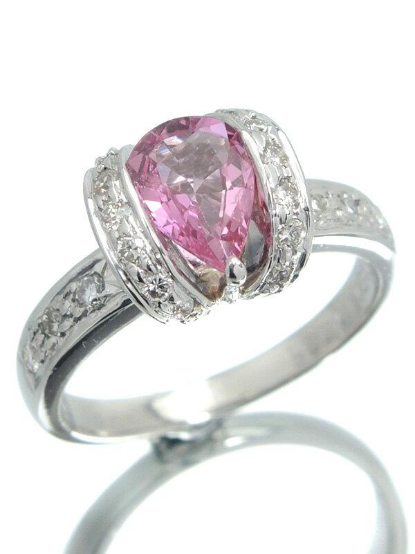 【ソーティング】セレクトジュエリー『PT900リング ピンクサファイア1.125ct ダイヤモンド0.40ct』13号 1週間保証【中古】