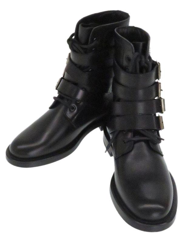 【SAINT LAURENT】サンローラン『スタッズ ベルト ブーツ size37』レディース 1週間保証【中古】