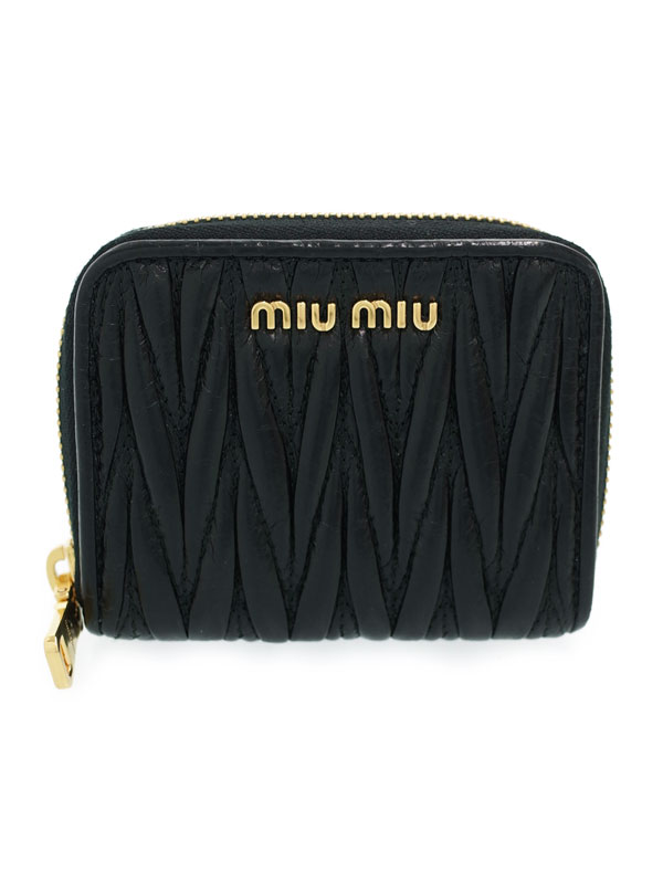 【MIUMIU】ミュウミュウ『マテラッセ コインケース』5MM268 レディース 1週間保証【中古】