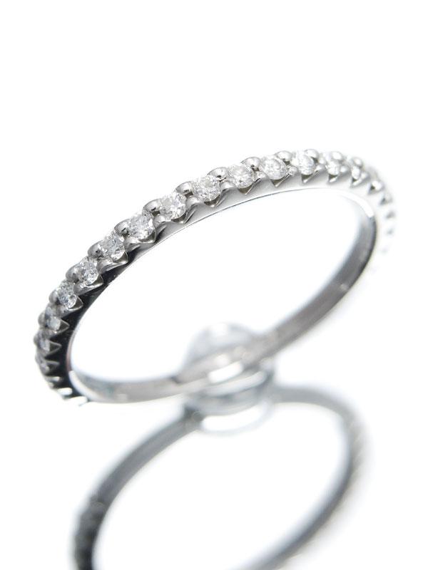 【Disney】【仕上済】ディズニー『PT900リング ダイヤモンド0.30ct エタニティ』13号 1週間保証【中古】