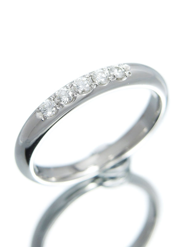 【MIKIMOTO】ミキモト『PT950リング ダイヤモンド0.15ct』14.5号 1週間保証【中古】