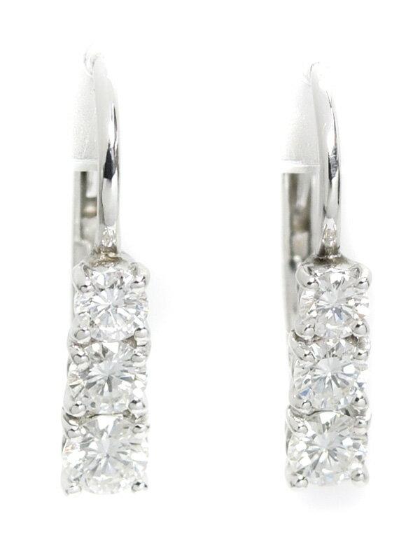 【DAMIANI】【仕上済】ダミアーニ『K18WGピアス ダイヤモンド』1週間保証【中古】