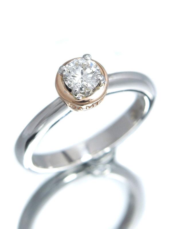 【DAMIANI】【仕上済】ダミアーニ『K18WG/K18PGリング 1Pダイヤモンド』8.5号 1週間保証【中古】